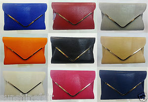 NUDE BLACK RED PINK LIME OVERSIZED FAUX LEATHER ANIMAL PRINT EVENING CLUTCH BAG   eBay