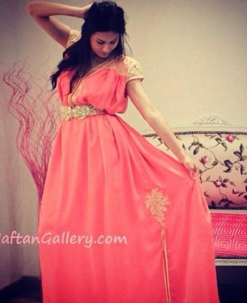 dress takchita pink dress