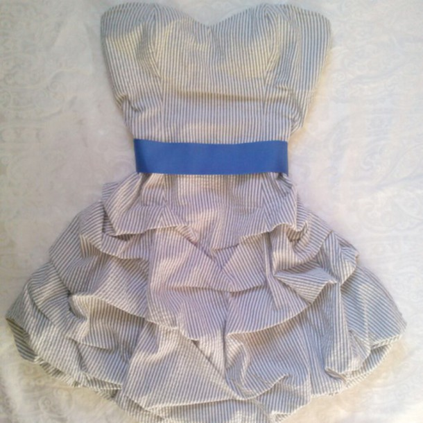 dress party dress party outfits homecoming dress striped dress blue dress blue ribbon black dress white dress black and white dress