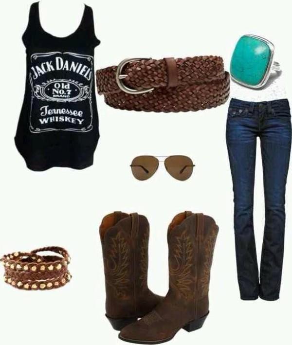 shirt jack daniel's whiskey country country style bracelets bracelets cute shoes