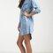 Denim pocket 3/4 sleeve shirt dress