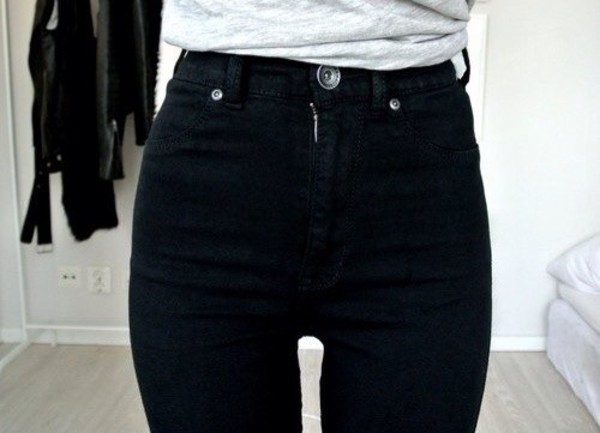 jeans high waisted black