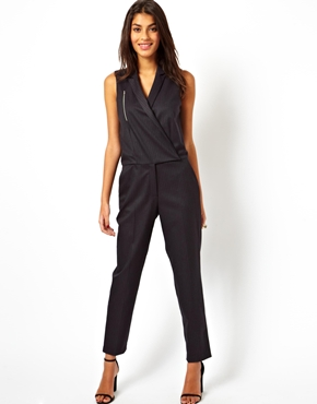ASOS | ASOS Jumpsuit in Premium Pinstripe at ASOS
