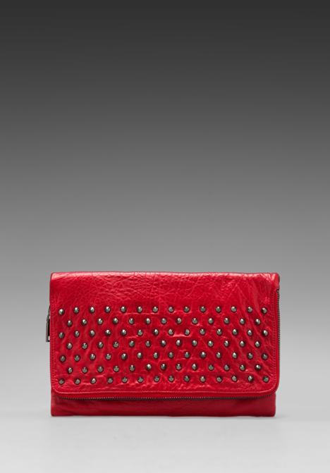 YOSI SAMRA Blair Studded Foldover Clutch in Scarlet at Revolve Clothing - Free Shipping!