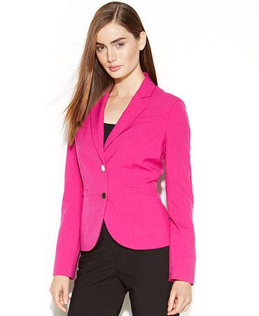 Calvin Klein Metal-Button Blazer - Jackets & Blazers - Women - Macy's