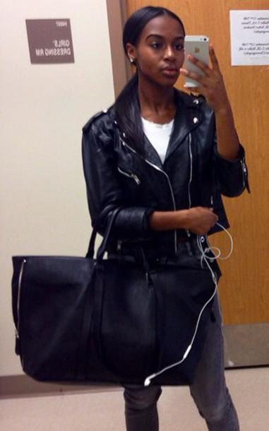 bag oversized leather bag