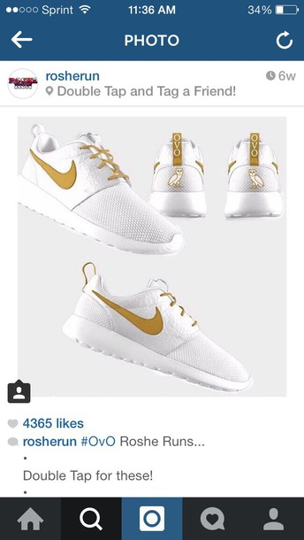 shoes gold roshe runs