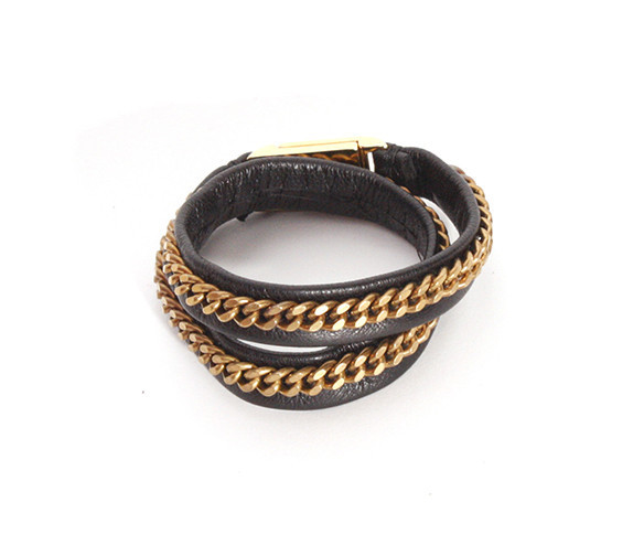 Leather Chain Wrap Bracelet   Created by Fortune
