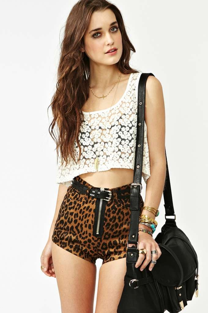 Leo Zip Shorts in  Clothes Bottoms Shorts at Nasty Gal
