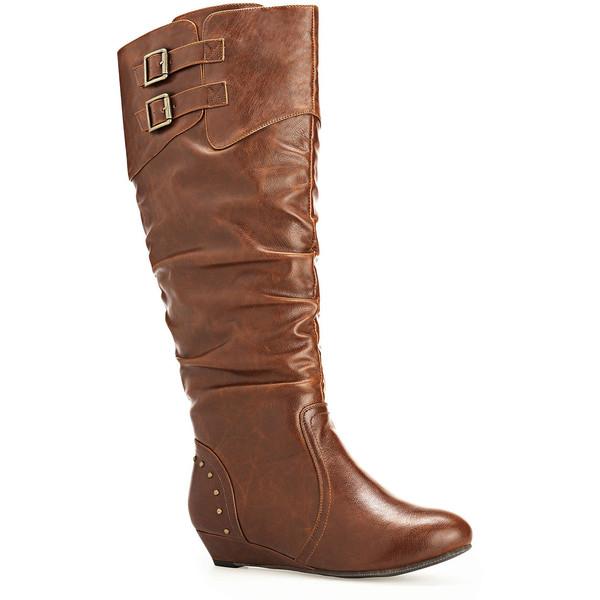 Ivy Stud Heel Tall Boot - Polyvore