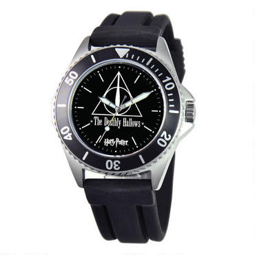Harry Potter Deathly Hallows Rotating Bezel Watch |  WBshop.com | Warner Bros.