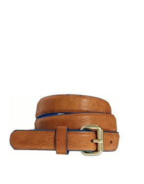ASOS | ASOS Skinny Belt With Contrast Edge Paint at ASOS