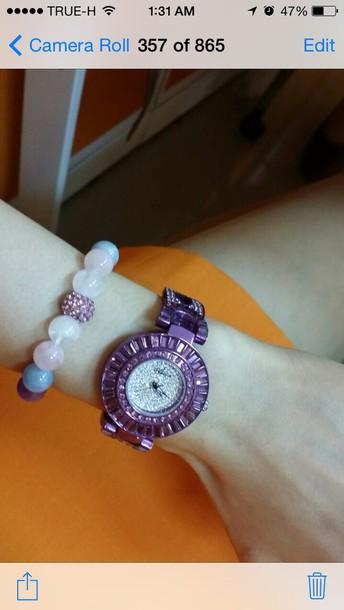 jewels purple glam watch blink blink crystal watch chic women watch