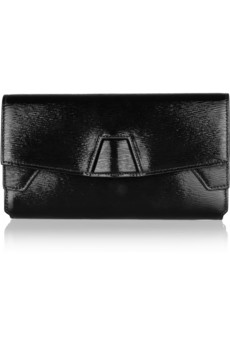 Tri-Fold textured-leather clutch    Alexander Wang   THE OUTNET