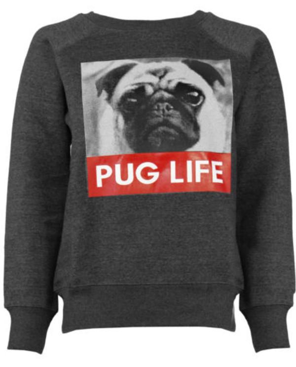 sweater new pug life pug life sweatshirt jumper pugs trendy swag hipster pullover fleece streetstyle teenagers sweatshirt dope