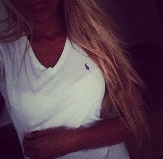 t-shirt cute ralph lauren femme ralph lauren polo ralph lauren v neck v-neck tee v-neck cardigan sweaters white casual style classy girly girl teenagers beautiful cutest hippie hipster colorful black and white cool summer pink shirt white t-shirt top ralph lauren womens t-shirt/v neck