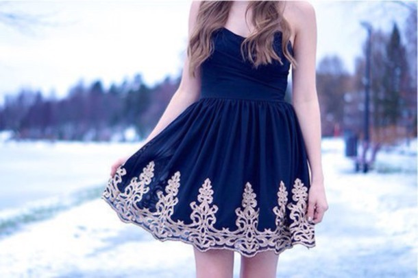 dress strapless pattern girly dress winter dress classy dress