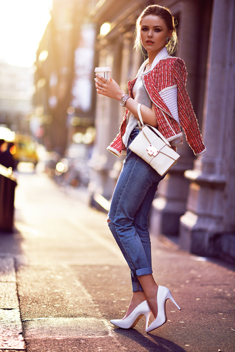 kayture jeans jacket top bag shoes jewels classy