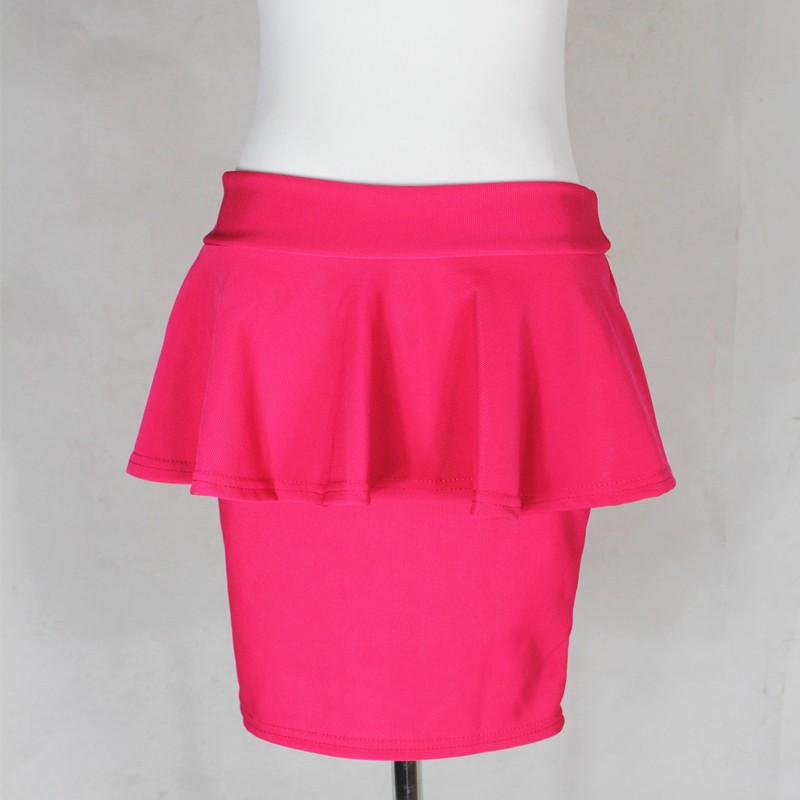 Free Shipping 2014 Fashion 5Colors Ruffles Peplum Skirt Woman's Mini Pencil Skirt 197302-in Skirts from Apparel & Accessories on Aliexpress.com