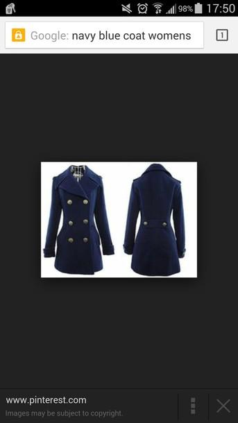coat navy navy coat pea coat blue coat