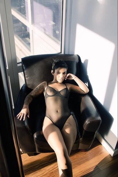 underwear bodysuit sheer transparent