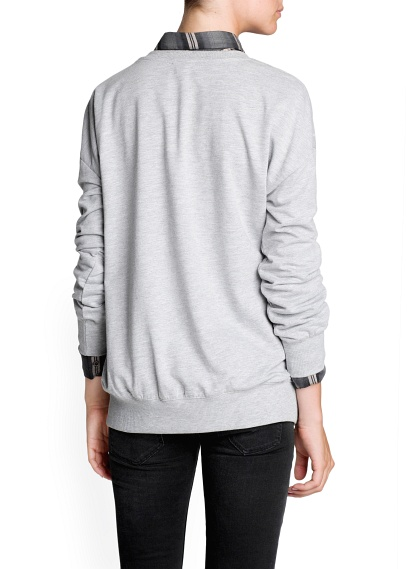 MANGO - CLOTHING - Cardigans and sweaters - Zipped side quilted sweatshirt