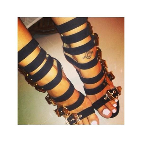 shoes black black high heels strappy black heels buckle heels buckles black and gold buckle heels same same