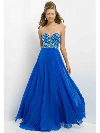 dress cobalt-blue gemstone prom dress