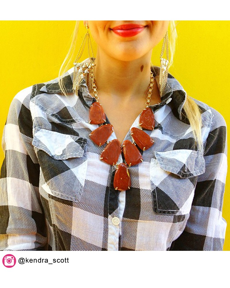 Harlow Statement Necklace in Goldstone - Kendra Scott Jewelry