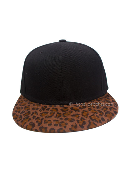 Living On The Wild Side Leopard Cap - Black | Honey Peaches