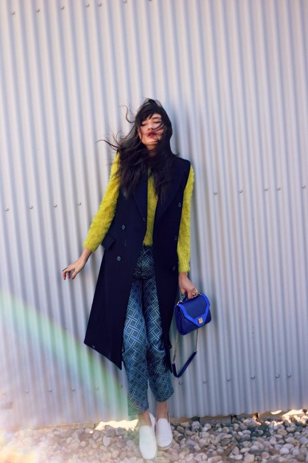 natalie off duty jacket sweater pants shoes bag jewels