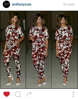 jumpsuit rouge blanc white red combinaison instagram classy girly outfit