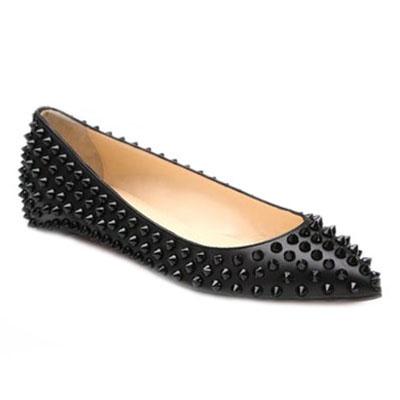 Christian Louboutin Pigalle Spiked Ballerina Flats All Black [flats_019] - £72.04 : louis vuitton outlet