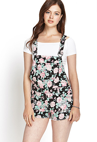 Floral Print Overalls | FOREVER21 - 2000125056