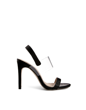 ASOS | ASOS HOLD OUT Leather Heeled Sandals at ASOS