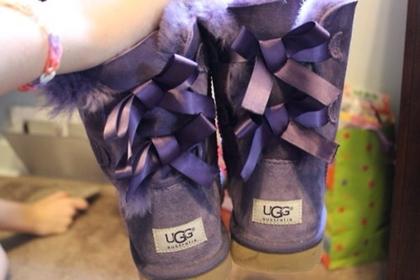 shoes ribbons purple ugg boots