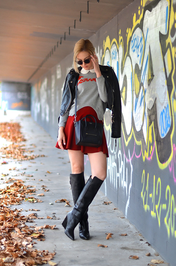 oh my vogue sweater jacket blouse skirt shoes bag sunglasses jewels