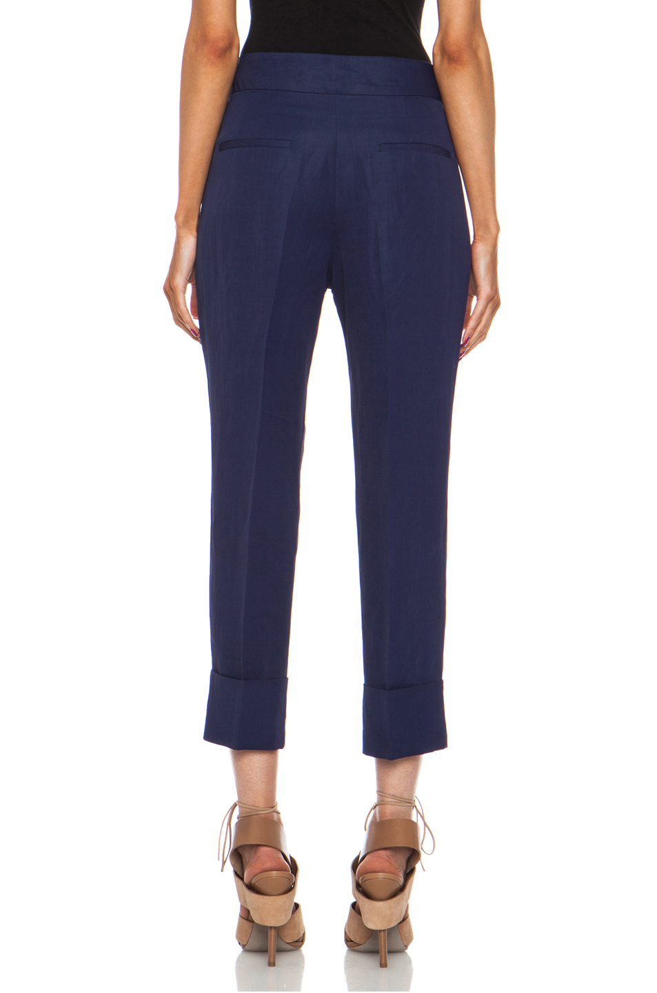 Acne Studios|Saviour Linen-Blend Trouser in Midnight Blue