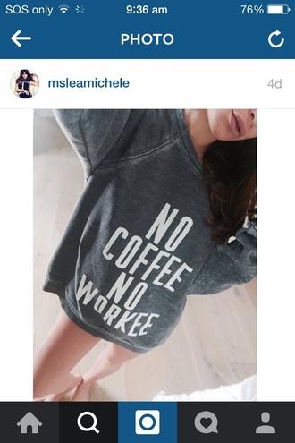 sweater model lea michele rachel berry glee coffee jumper grey sweater grey jumper grey