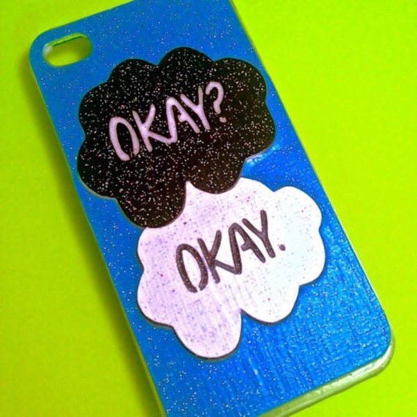 bag case for iphone 4/4s/5 cover the fault in our stars the fault in our stars blue case john green the fault in our stars