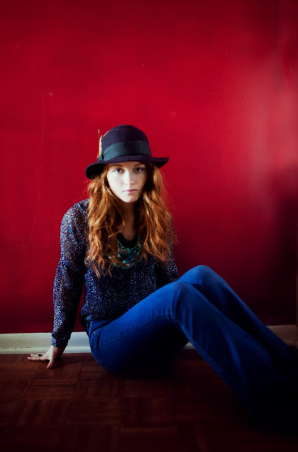 esther fromthesticks blouse jewels jeans hat