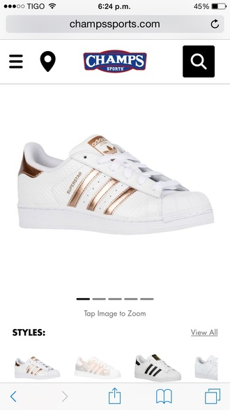 shoes adidas adidas superstars adidas shoes shorts white and copper low top sneakers gold white sneakers rose gold superstar original