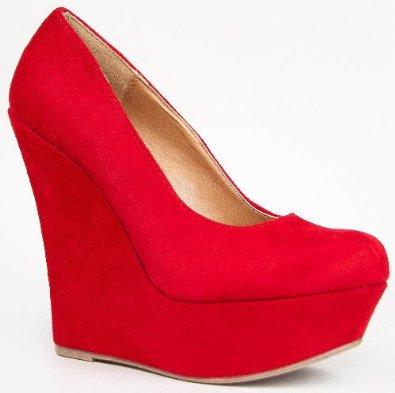 Amazon.com: Delicious MEROZ High Platform Round Toe Wedge Shoe: Shoes