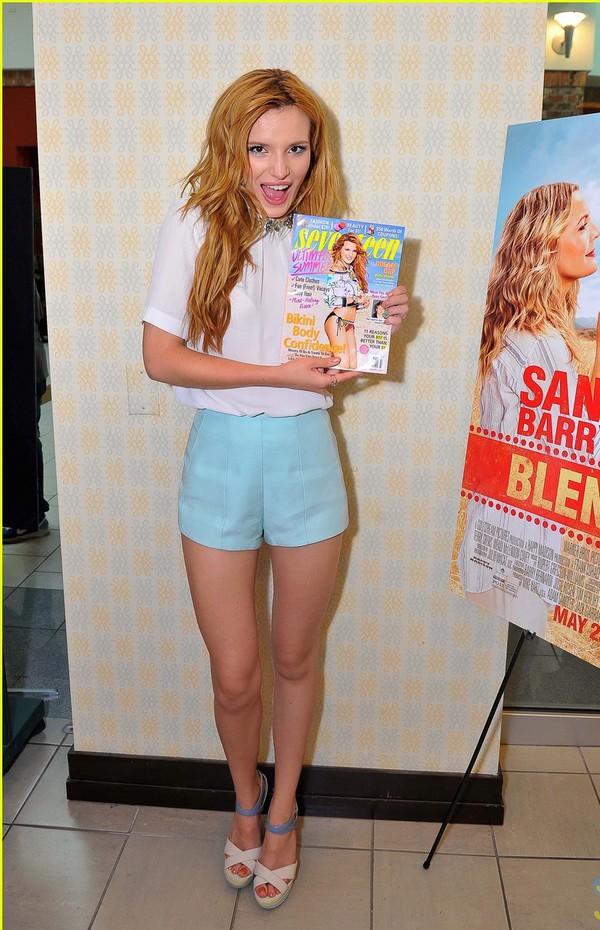 shorts bella thorne blouse thong bikini