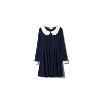 dress black dress col claudine