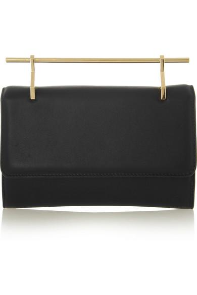 M2Malletier|Fabricca leather clutch|NET-A-PORTER.COM
