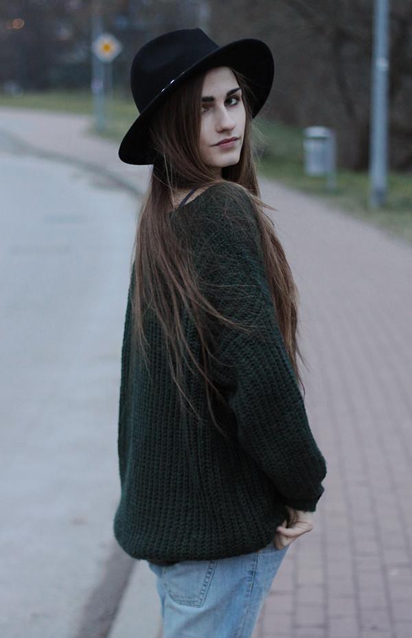 so in carmel coat sweater jeans shoes hat