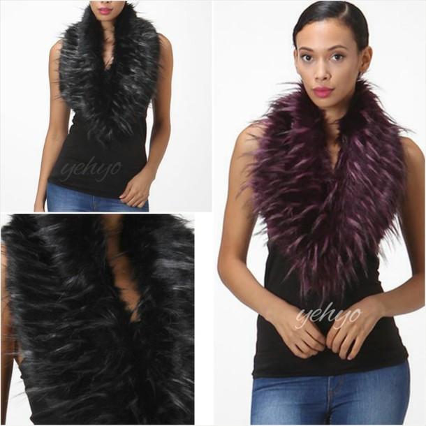 scarf fur vest fur scarf accessories