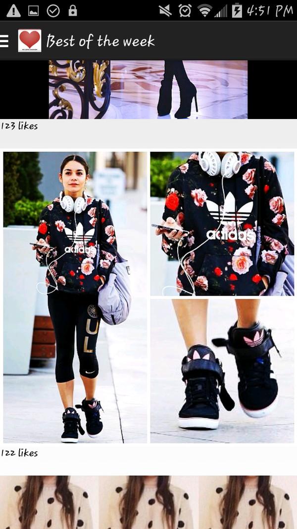 jacket floral adidas jacket adidas shoes hoodie blouse