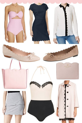 stylish petite blogger swimwear blouse dress jewels underwear skirt shorts coat jacket cardigan sweater ballet flats scalloped